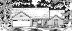 Country Style Home Design Plan: 75-508