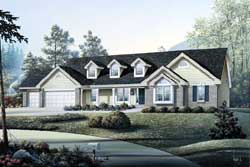 Traditional Style House Plans Plan: 77-135