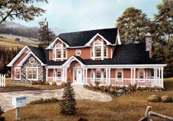 Country Style House Plans Plan: 77-140