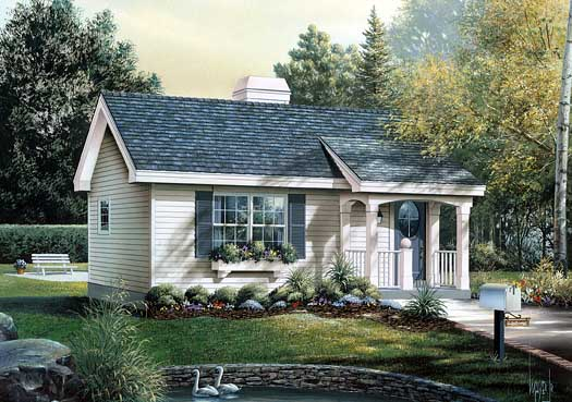 Country Style Home Design Plan: 77-154