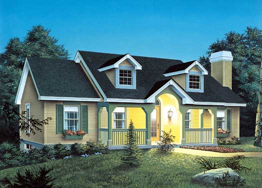 Country Style House Plans Plan: 77-155