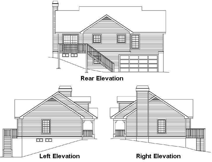 Rear Elevation Plan: 77-155