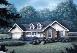 Southern Style House Plans Plan: 77-174