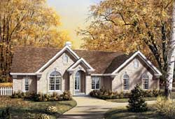 Traditional Style Home Design Plan: 77-187