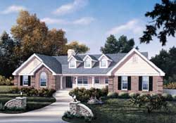 Country Style Floor Plans Plan: 77-202
