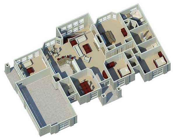 Sunbelt Style House Plans