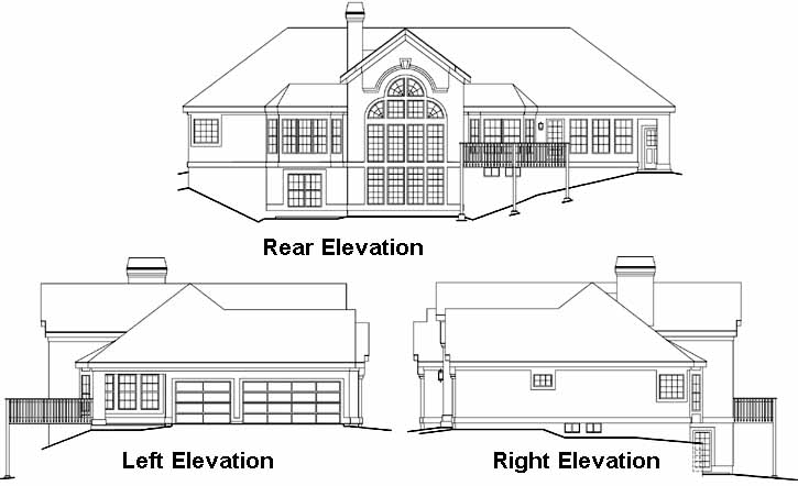 Rear Elevation Plan: 77-223