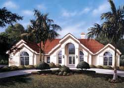 Sunbelt Style House Plans Plan: 77-223