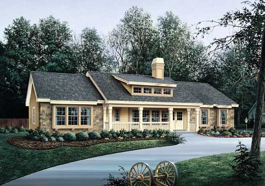 Country Style House Plans Plan: 77-226