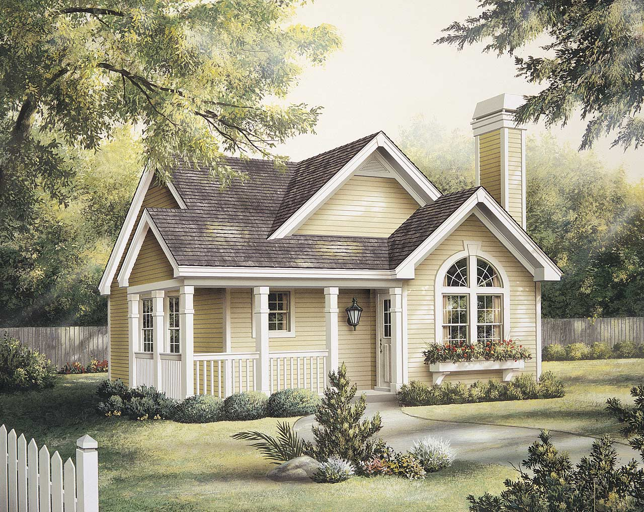 Cottage Style House Plans 77-230