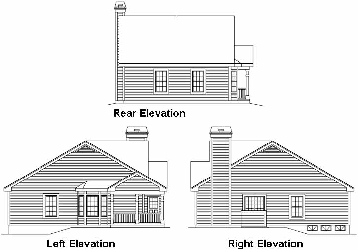 Rear Elevation Plan: 77-230