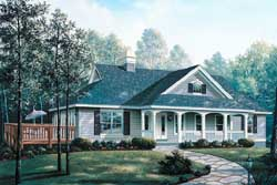Country Style Floor Plans Plan: 77-244