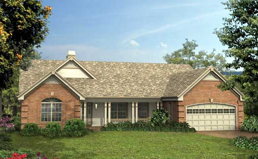Country Style Floor Plans Plan: 77-245