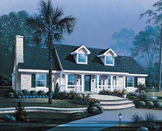 Country Style Floor Plans Plan: 77-246