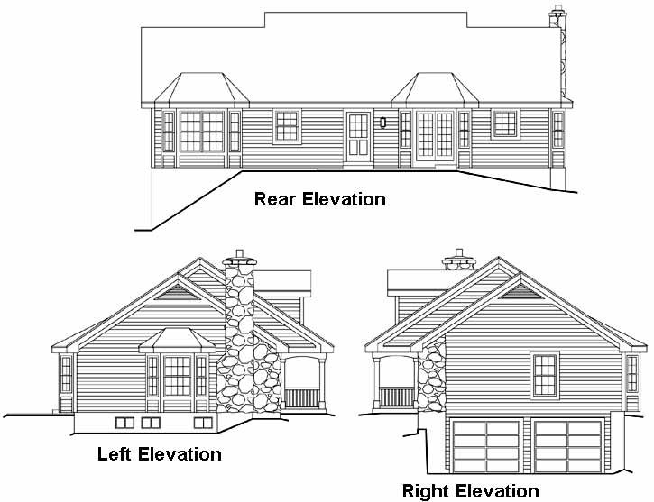 Rear Elevation Plan: 77-246