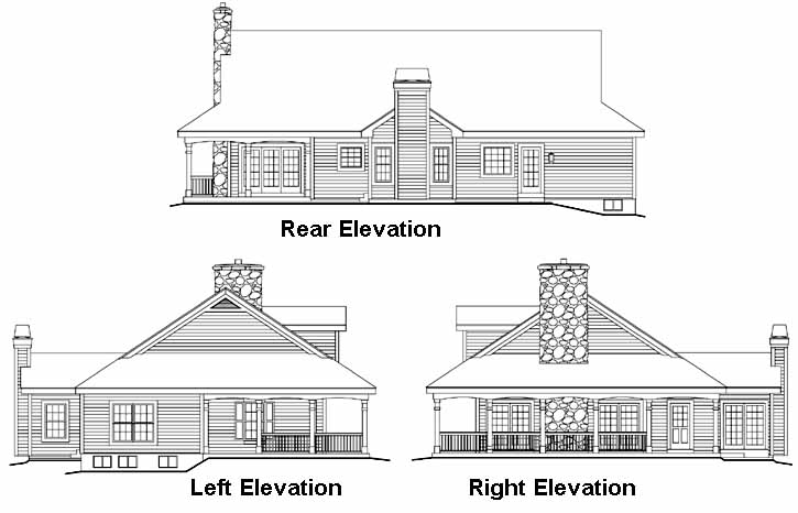Rear Elevation Plan: 77-249