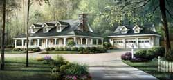 Country Style Floor Plans Plan: 77-249