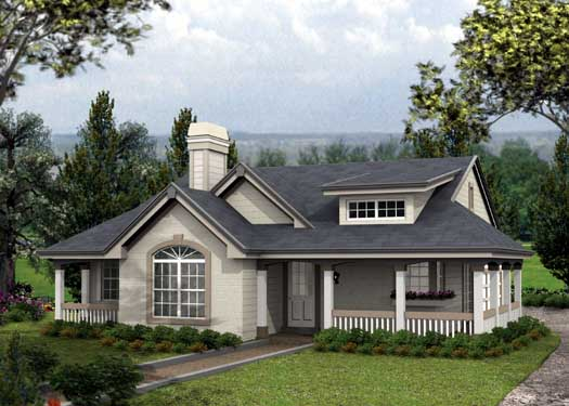 Country Style Floor Plans Plan: 77-258