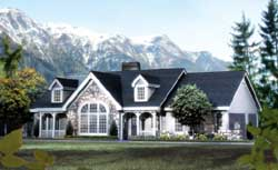 Country Style Floor Plans Plan: 77-262