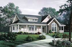 Country Style Floor Plans Plan: 77-265