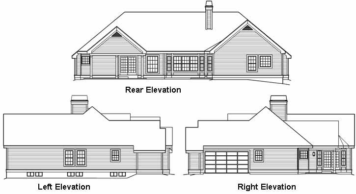 Rear Elevation Plan: 77-275