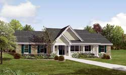 Country Style Home Design Plan: 77-276