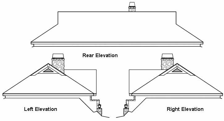 Rear Elevation Plan: 77-286