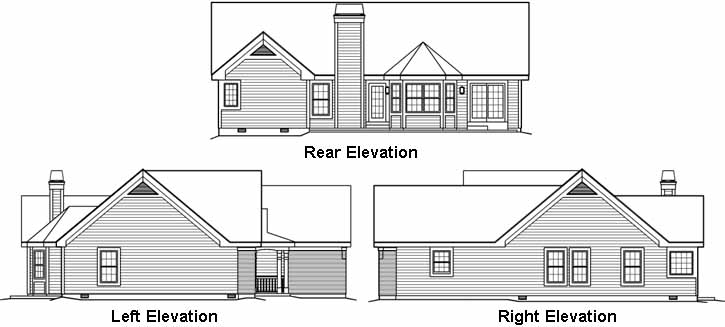 Rear Elevation Plan: 77-289