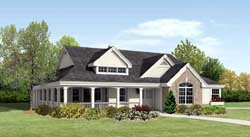 Country Style Floor Plans Plan: 77-297