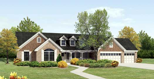 Ranch House Plan - 4 Bedrooms, 3 Bath, 2322 Sq Ft Plan 77-299