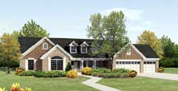 Ranch Style Home Design Plan: 77-299