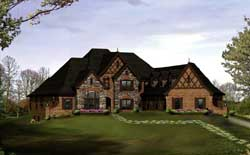 English-Country Style Floor Plans Plan: 77-327