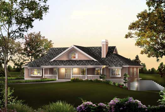 Country Style Floor Plans 77-329