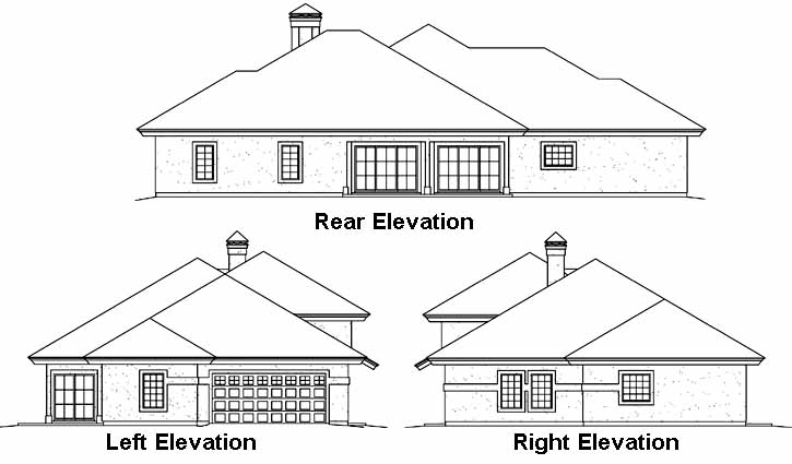 Rear Elevation Plan: 77-354