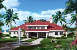 Florida Style House Plans Plan: 77-354