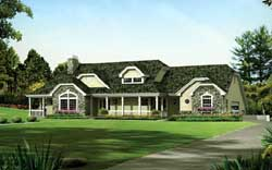 Country Style Floor Plans Plan: 77-359