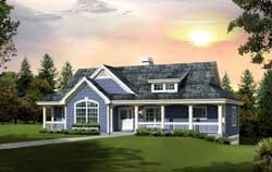 Country Style Floor Plans Plan: 77-361