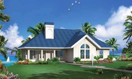 Sunbelt Style House Plans Plan: 77-369