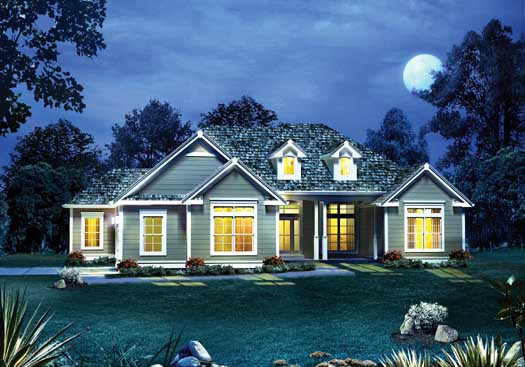 Traditional Style Home Design 77-382