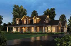 Country Style Home Design Plan: 77-441