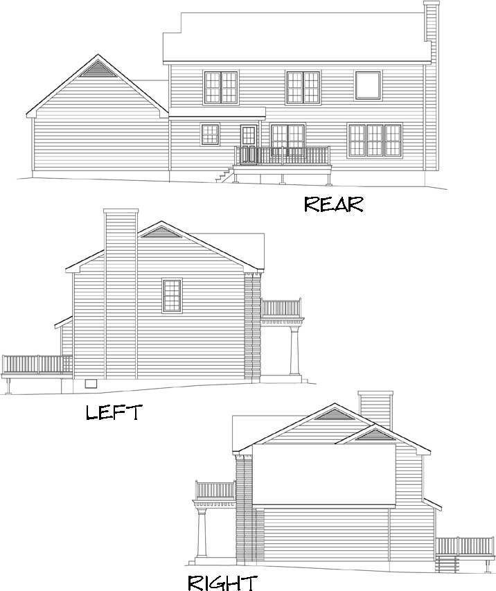 Rear Elevations Plan:77-456