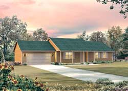 Ranch Style Home Design Plan: 77-459
