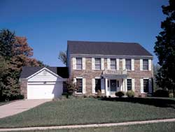 Colonial Style Home Design Plan: 77-462