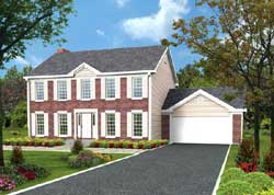 Early-American Style Floor Plans Plan: 77-463