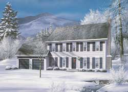 Colonial Style House Plans Plan: 77-464