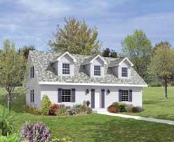 Cape-Cod Style Home Design Plan: 77-484