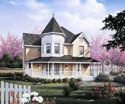 Victorian Style Home Design Plan: 77-485