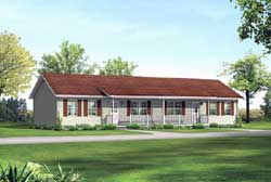 Ranch Style House Plans Plan: 77-505