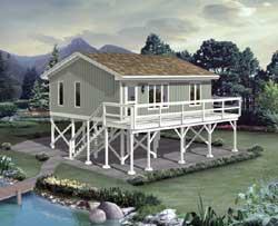 Coastal Style Home Design Plan: 77-555