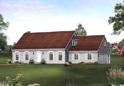 Early-American Style Home Design Plan: 77-571
